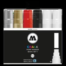 Molotow Chalk Basic Set 1 15mm Broad Tip (6)