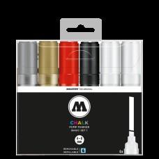 Molotow Chalk Basic Set 1 4-8mm Chisel Tip (6)