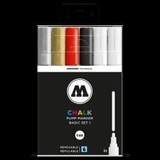 Molotow Chalk Basic Set 1 4mm Round Tip (6)