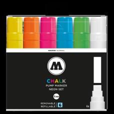 Molotow Chalk Neon Set 15mm Broad Tip (6)