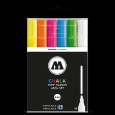 Molotow Chalk Neon Set 4mm Round Tip (6)